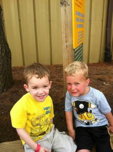 Colby and Nathan waiting to ride the Jackc Rabbit Aug 25, 2012